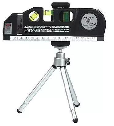 光学測定器 高精度 墨出し器 レーザー レーザー墨出し器メジャーラインテープ調整多機能標準定規水平レーザークロスライン + 三脚_画像1