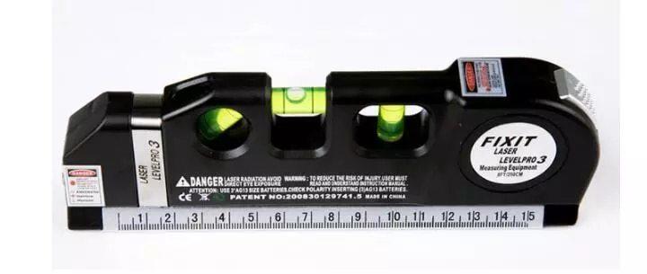光学測定器 高精度 墨出し器 レーザー レーザー墨出し器メジャーラインテープ調整多機能標準定規水平レーザークロスライン + 三脚_画像2