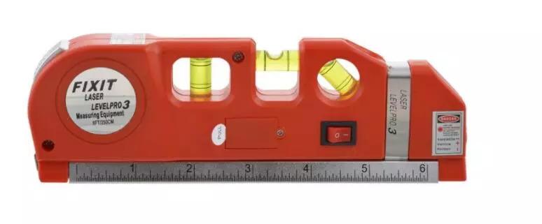 光学測定器 高精度 墨出し器 レーザー レーザー墨出し器メジャーラインテープ調整多機能標準定規水平レーザークロスライン + 三脚_画像3