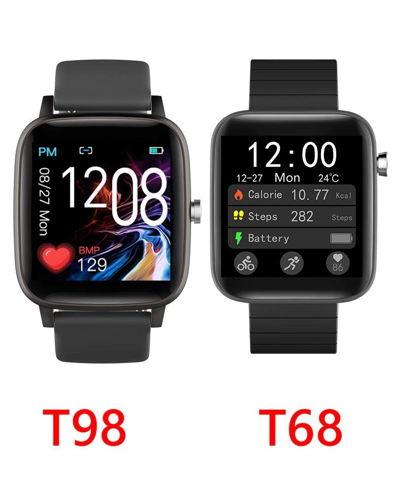 ブレスレット スマートバンド 新品 体温測定 T68T98スマート腕時計体温測定心拍数血圧酸素モニタースマートリストバンドスポーツ_画像5
