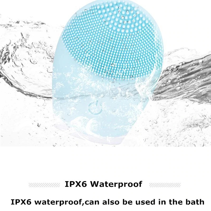 毛穴 超音波 ピーリング 美顔器 洗顔ブラシ洗顔ブラシ電動美顔器シリコーンブラシクリーナーソニック振動ディープポアクリーニング_画像5