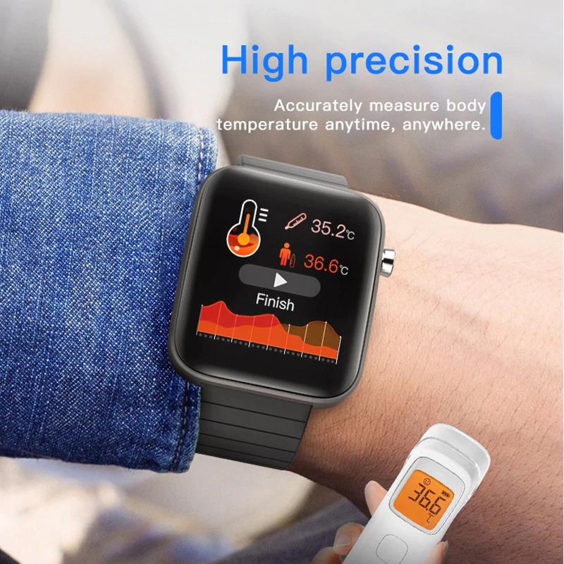 ブレスレット スマートバンド 新品 体温測定 T68T98スマート腕時計体温測定心拍数血圧酸素モニタースマートリストバンドスポーツ_画像3