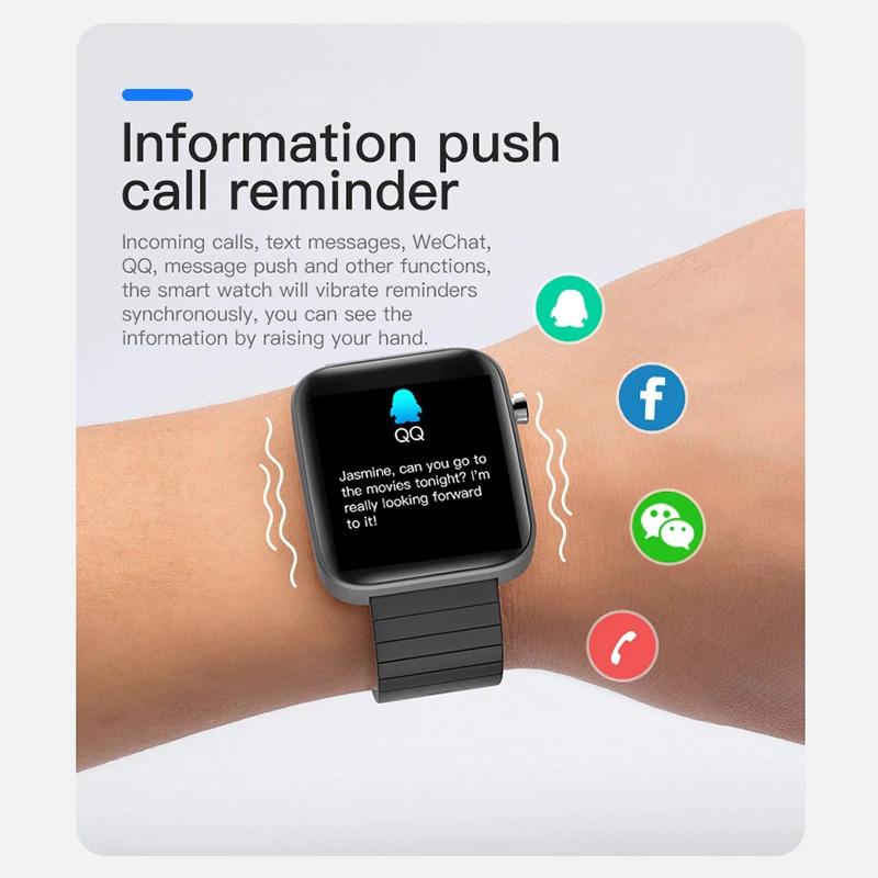ブレスレット スマートバンド 新品 体温測定 T68T98スマート腕時計体温測定心拍数血圧酸素モニタースマートリストバンドスポーツ_画像6