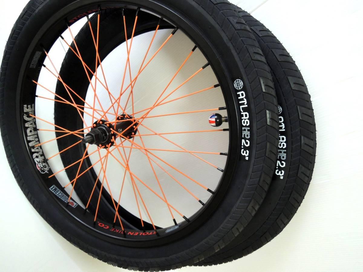 送料無料☆新品 FICTION BIKES Atlas HP BMX タイヤ 2.3 ブラック2本セット