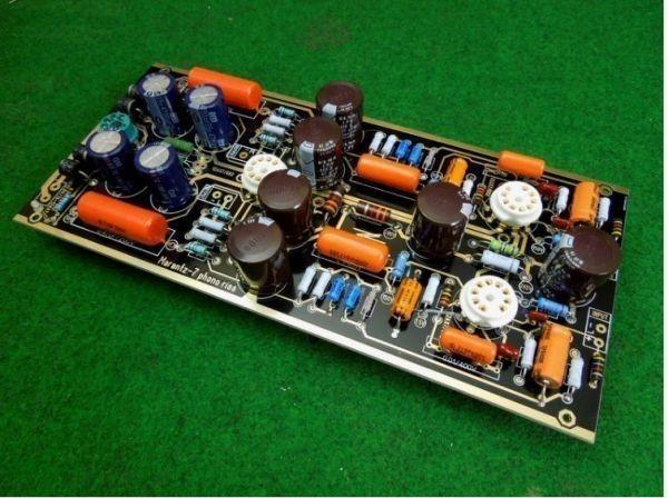 ■ハイエンドM7真空管フォノRIAA LPターンテーブルプリアンプのHiFiステレオマランツ7プリアンプ(チューブなし)ボードを組み立て_画像2