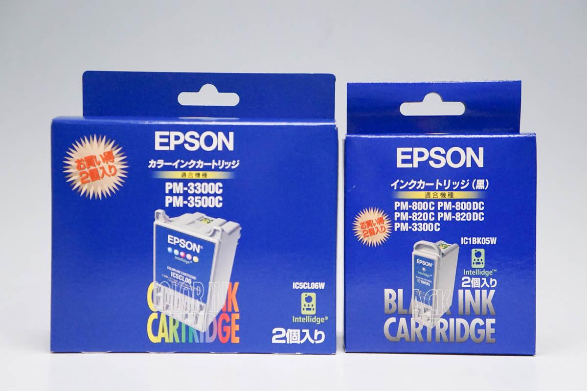 ☆ 【未使用】 EPSON カラーインクカートリッジ IC5CL06W IC1BK05W セット ※推奨使用期限切れ_画像1