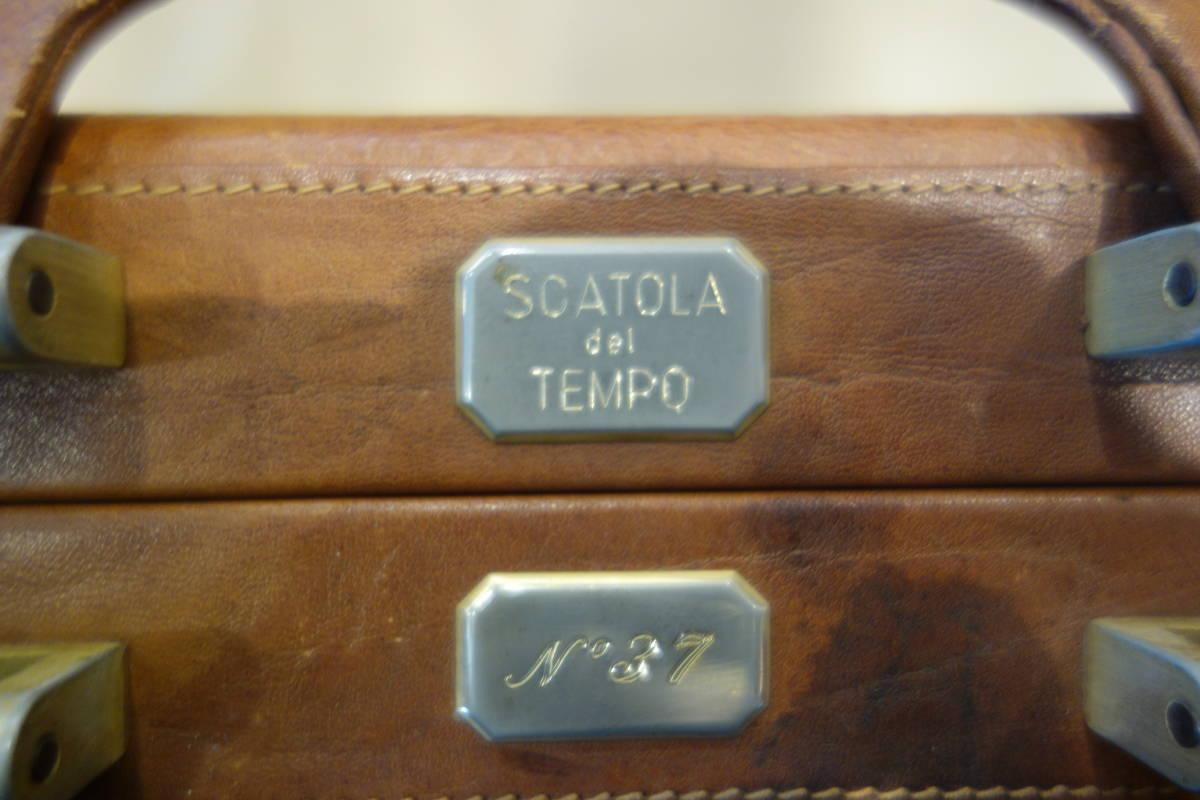 SCATOLA del TEMPO スカトラデルテンポ 腕時計32本収納 オーストリッチレザーアタッシュケース _画像8