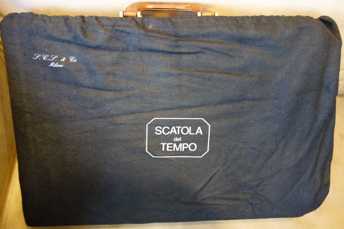 SCATOLA del TEMPO スカトラデルテンポ 腕時計32本収納 オーストリッチレザーアタッシュケース _画像10