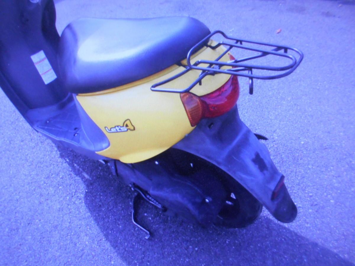 「スズキ岐阜 レッツ4 CA45A F-I幸運のイエロ- インジェクション バイクショップ株式会社ギフトップトレ-ディング」の画像2