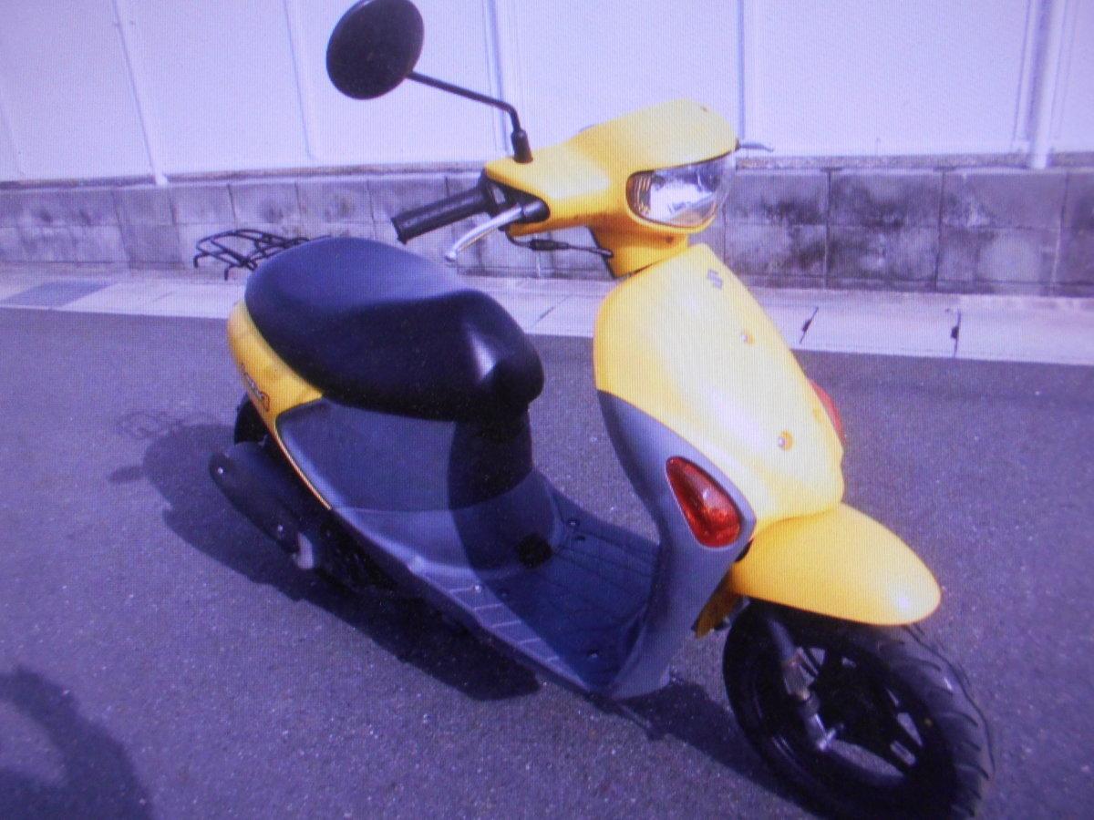 「スズキ岐阜 レッツ4 CA45A F-I幸運のイエロ- インジェクション バイクショップ株式会社ギフトップトレ-ディング」の画像1