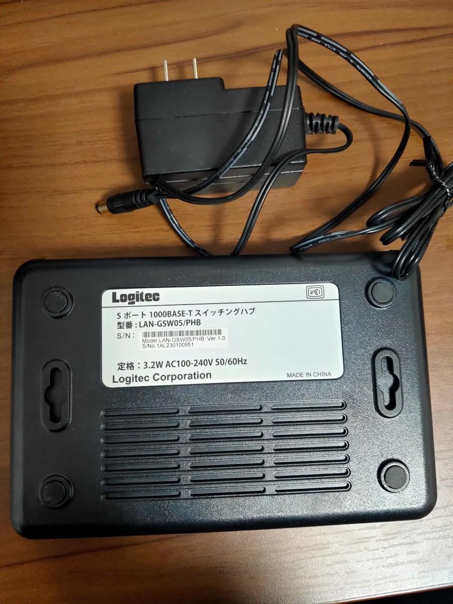 Logitec 5ポート Giga対応 スイッチングハブ LAN-GSW05/PHB