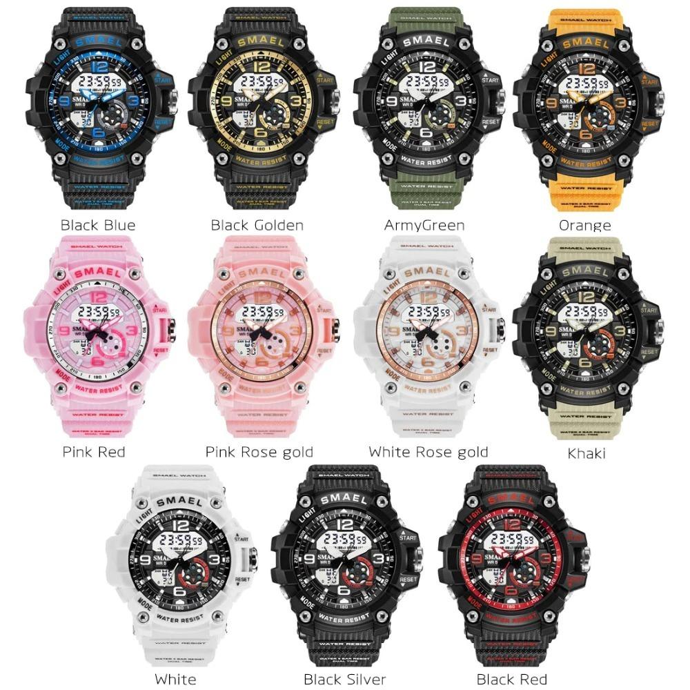 X116:全11カラー ファッション レディース スポーツウォッチ 防水 学生 多機能 腕時計 LEDデジタル クォーツ ガールクロック ギフト_画像1