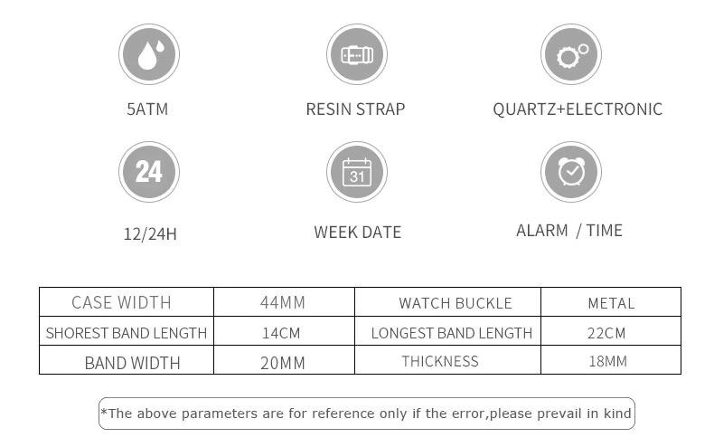 X116:全11カラー ファッション レディース スポーツウォッチ 防水 学生 多機能 腕時計 LEDデジタル クォーツ ガールクロック ギフト_画像10