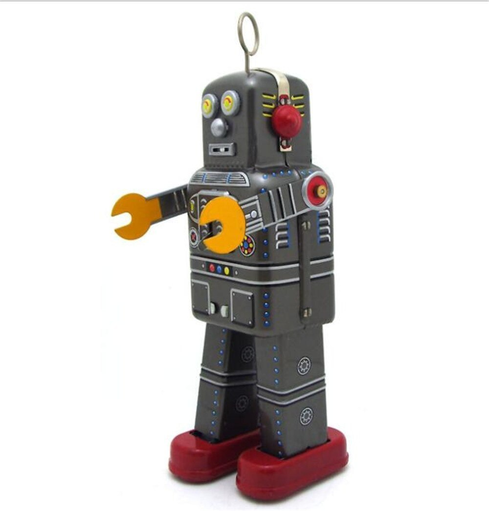 おもちゃ ロボット ブリキ ヴィンテージ レトロ おしゃれ 置物 オブジェ アンティーク プレゼント リビング 玄関 子供 M1097a 1231_画像2