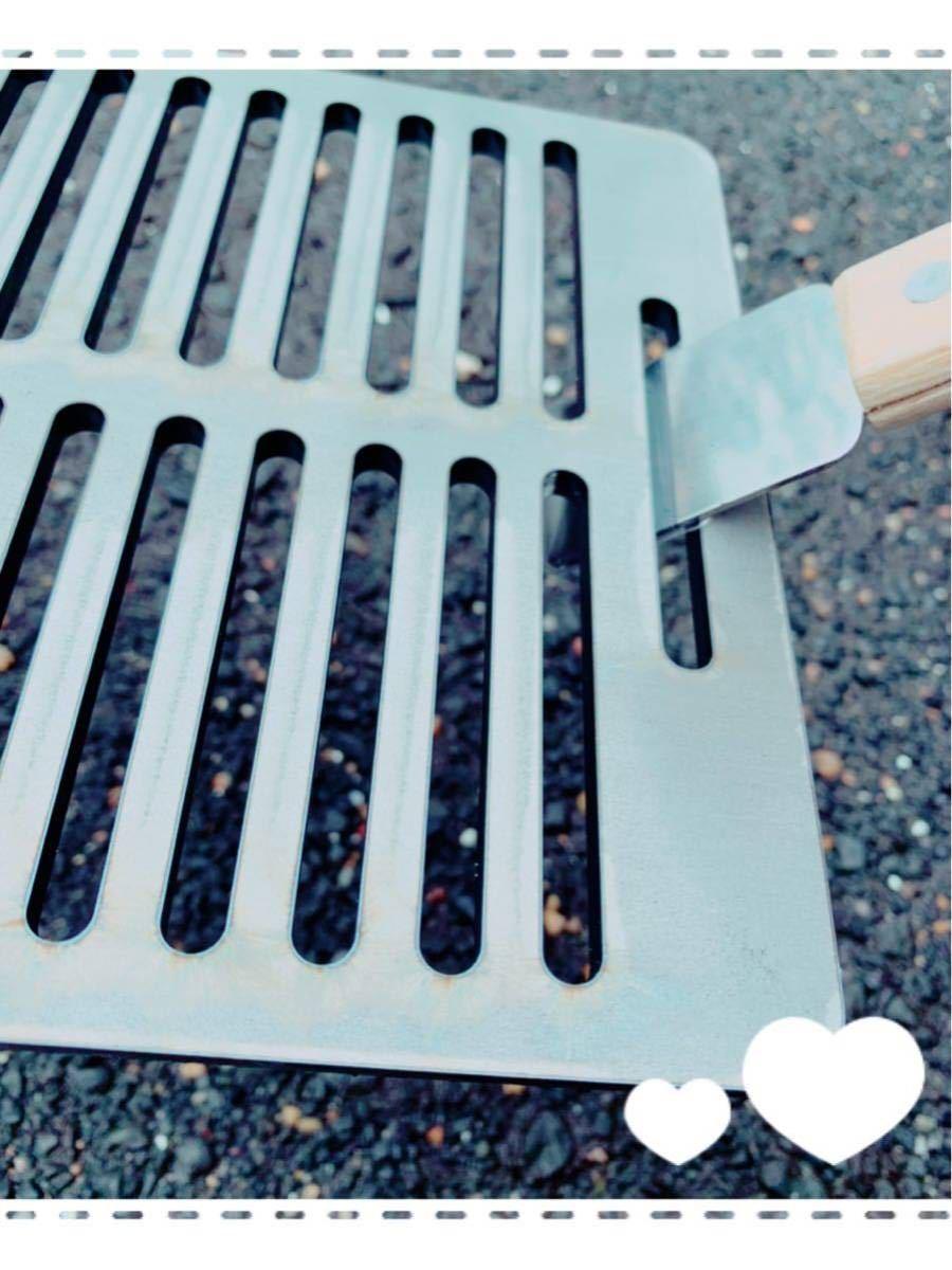 ヘラ付き コールマン クールステージ 6mm 鉄板 焼肉 キャンプ BBQ バーベキュー ソロキャン