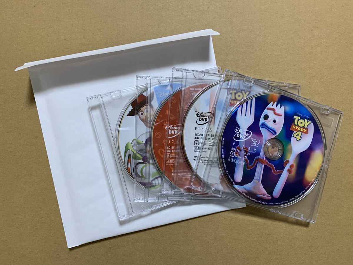 S28 トイストーリー 1 2 3 4 DVDセット 新品 未再生 国内正規品 ディズニー MovieNEX Disney DVDのみ (純正ケース/Blu-ray/Magicコード無)