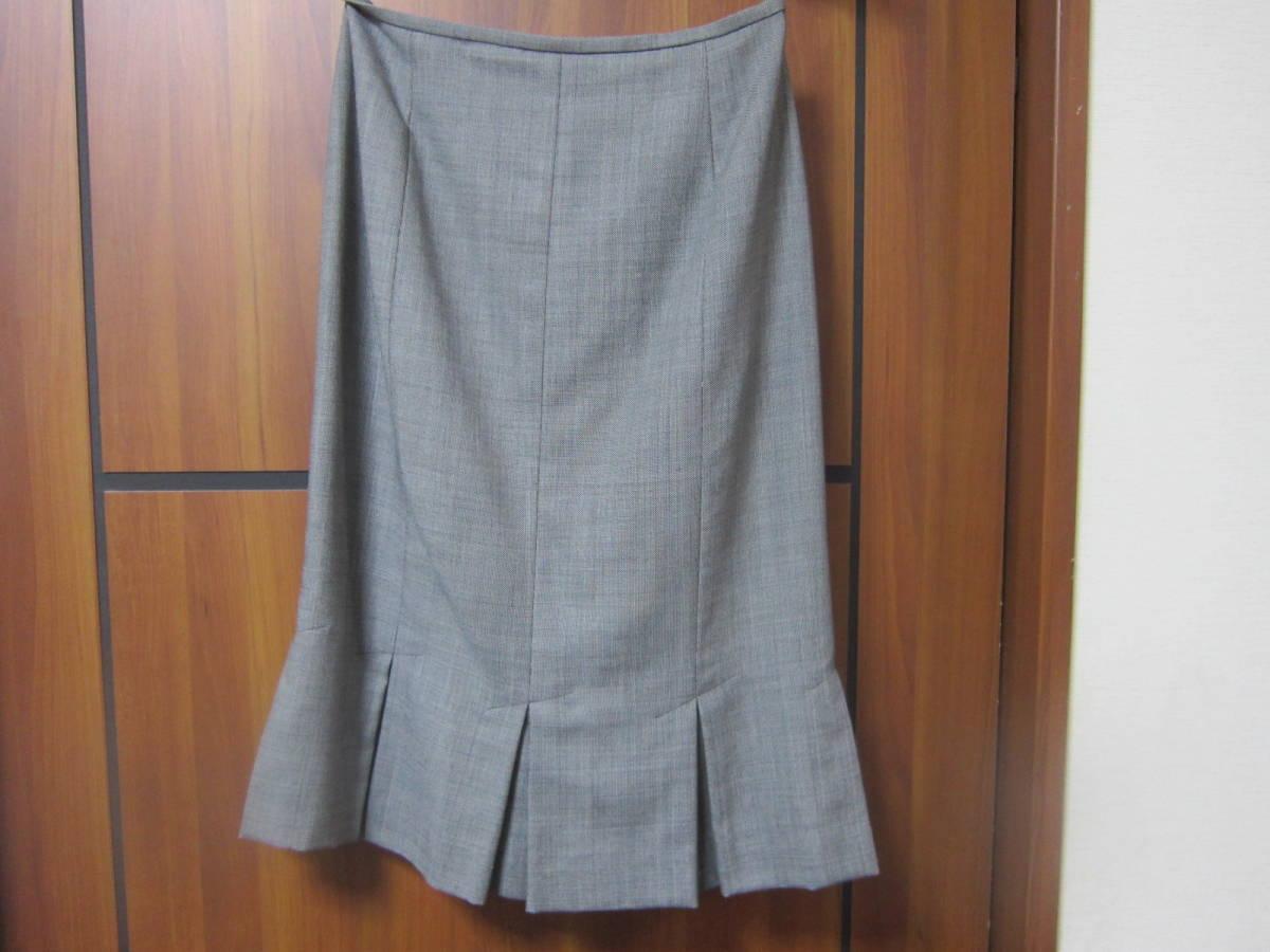 送料無料 MERLOSE(メルローズ) タイトスカート グレーチェック サイズ2_画像1