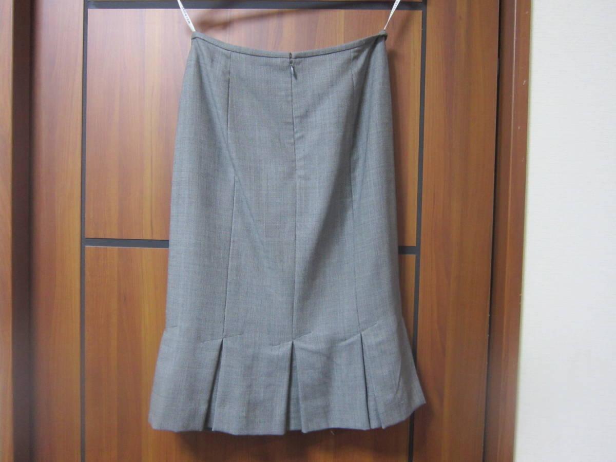 送料無料 MERLOSE(メルローズ) タイトスカート グレーチェック サイズ2_画像2