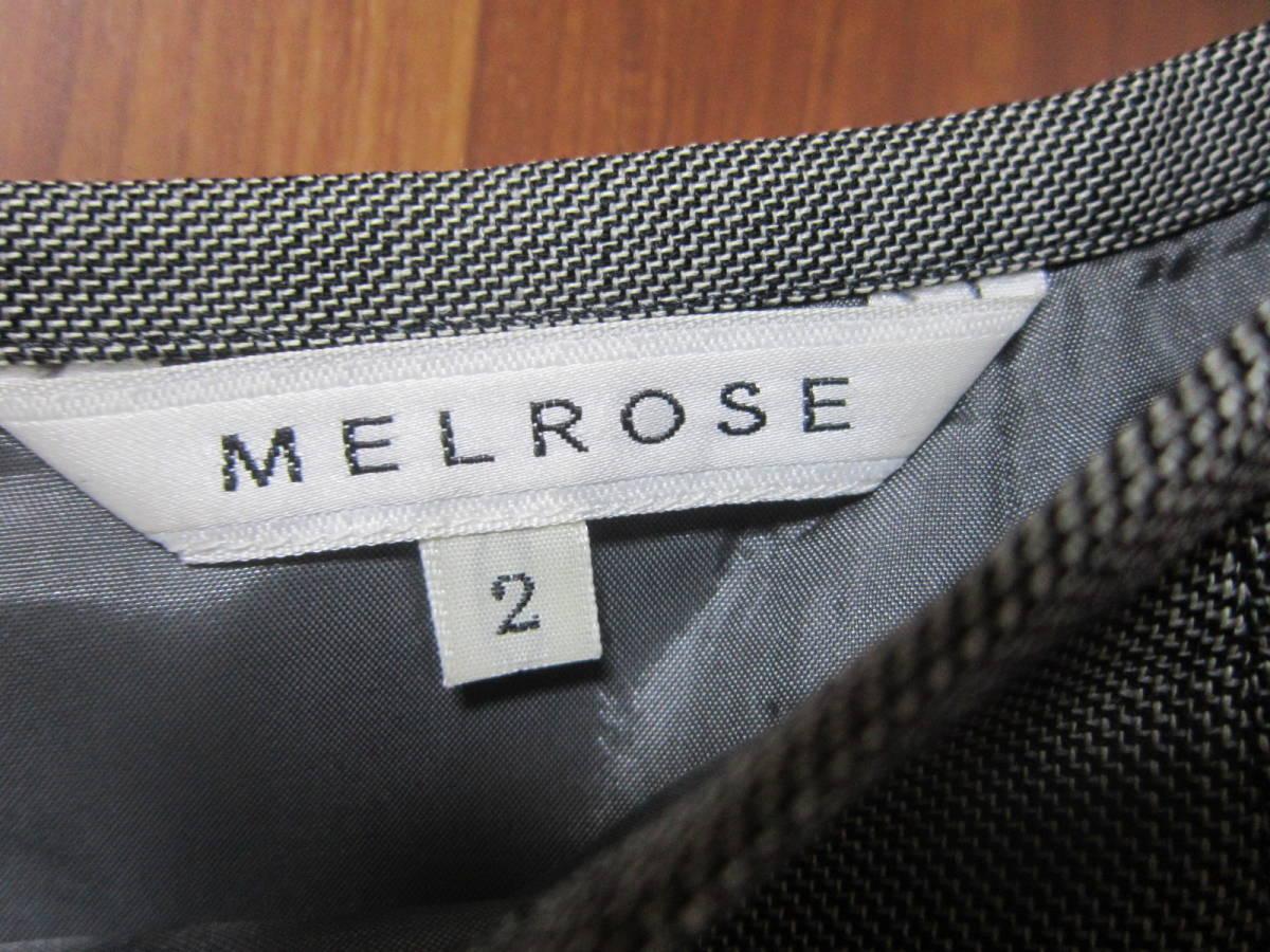 送料無料 MERLOSE(メルローズ) タイトスカート グレーチェック サイズ2_画像3