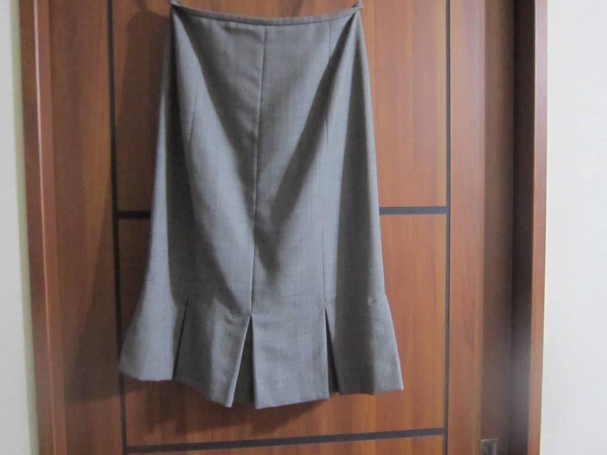 送料無料 MERLOSE(メルローズ) タイトスカート グレーチェック サイズ2_画像4