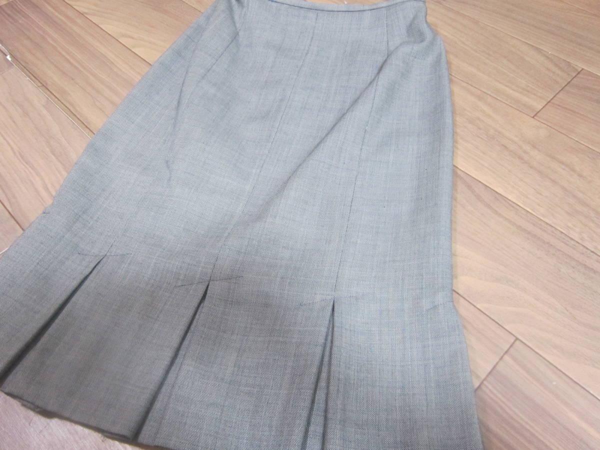 送料無料 MERLOSE(メルローズ) タイトスカート グレーチェック サイズ2_画像5