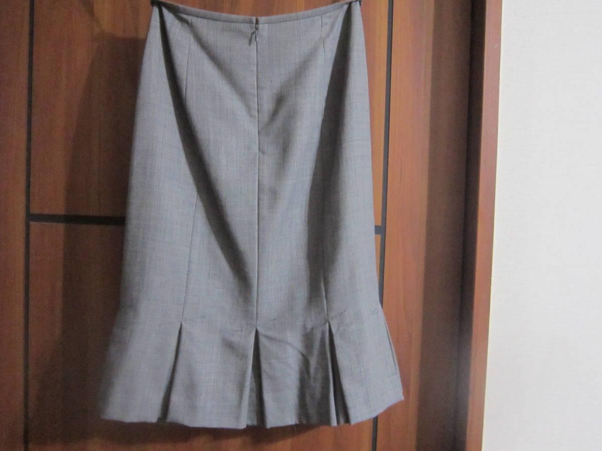 送料無料 MERLOSE(メルローズ) タイトスカート グレーチェック サイズ2_画像6