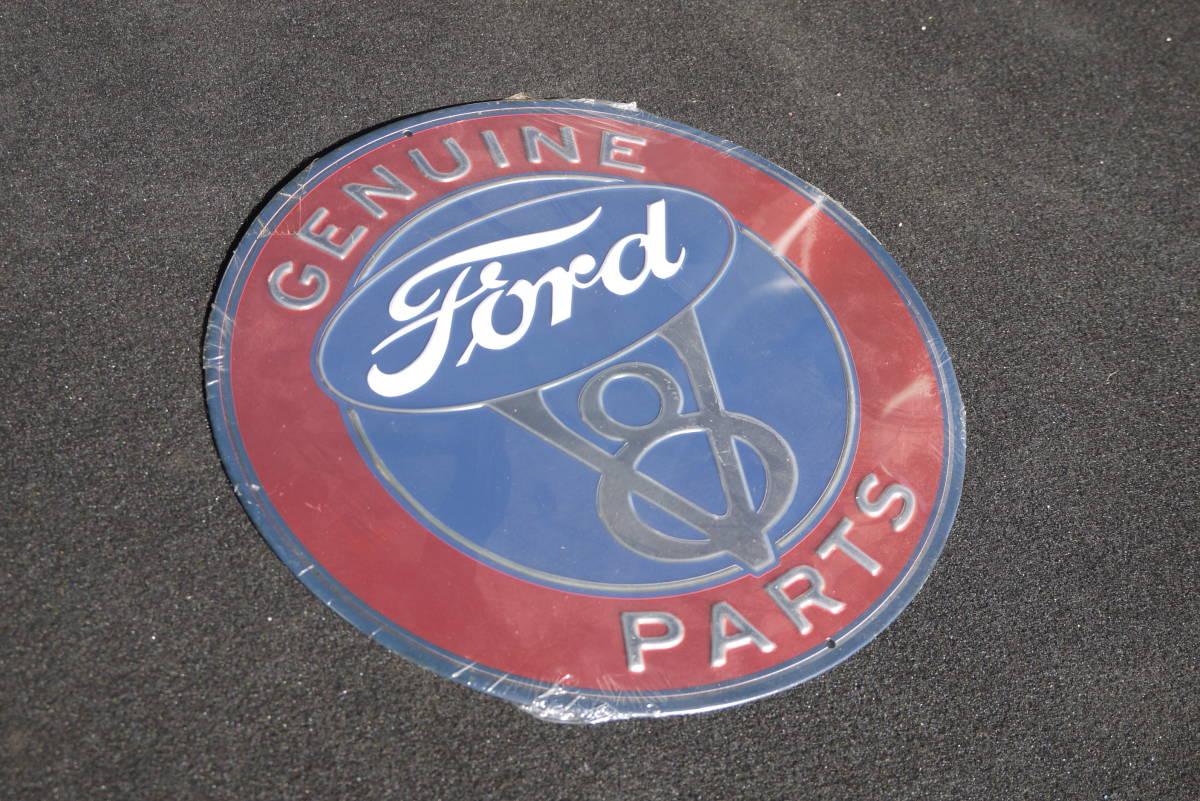 Ford V8 サインプレート/看板 HOTROD KUSTOM_画像1