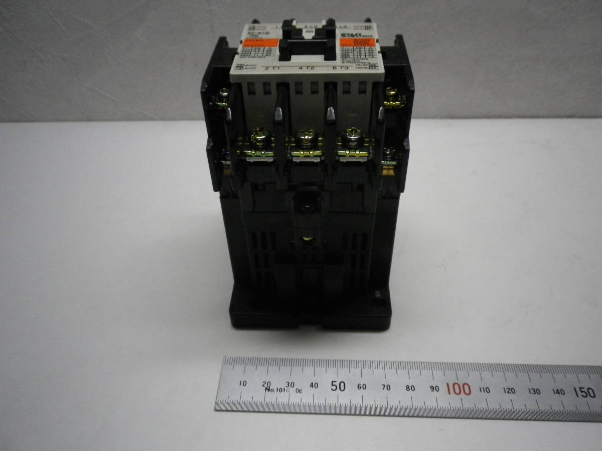 Fuji Electric SC-N1/G DC24V AUX 2a2b Magnetic Contactor 電磁接触器 富士電機 説付 未使用/経年品/動作不詳 送料無料 熊五郎の電機 0042_画像4