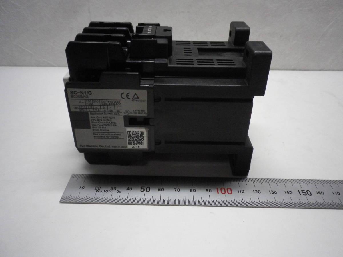Fuji Electric SC-N1/G DC24V AUX 2a2b Magnetic Contactor 電磁接触器 富士電機 説付 未使用/経年品/動作不詳 送料無料 熊五郎の電機 0042_画像6