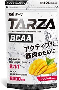 500g TARZA(ターザ) BCAA 8000mg アミノ酸 クエン酸 パウダー マンゴー風味 国産 500g_画像1