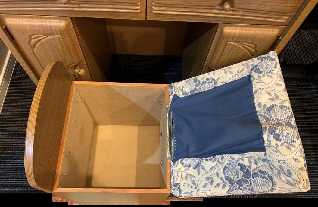 木製 三面鏡 ドレッサー スツール コンセント付 家具 鏡台 メイク台 寝室 収納 昭和 レトロ _画像7