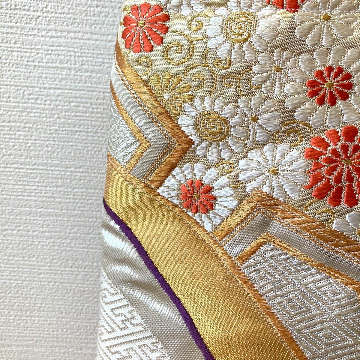 ハンドメイド 帯 袋帯 サブバッグ トートバッグ 正絹 和柄バッグ