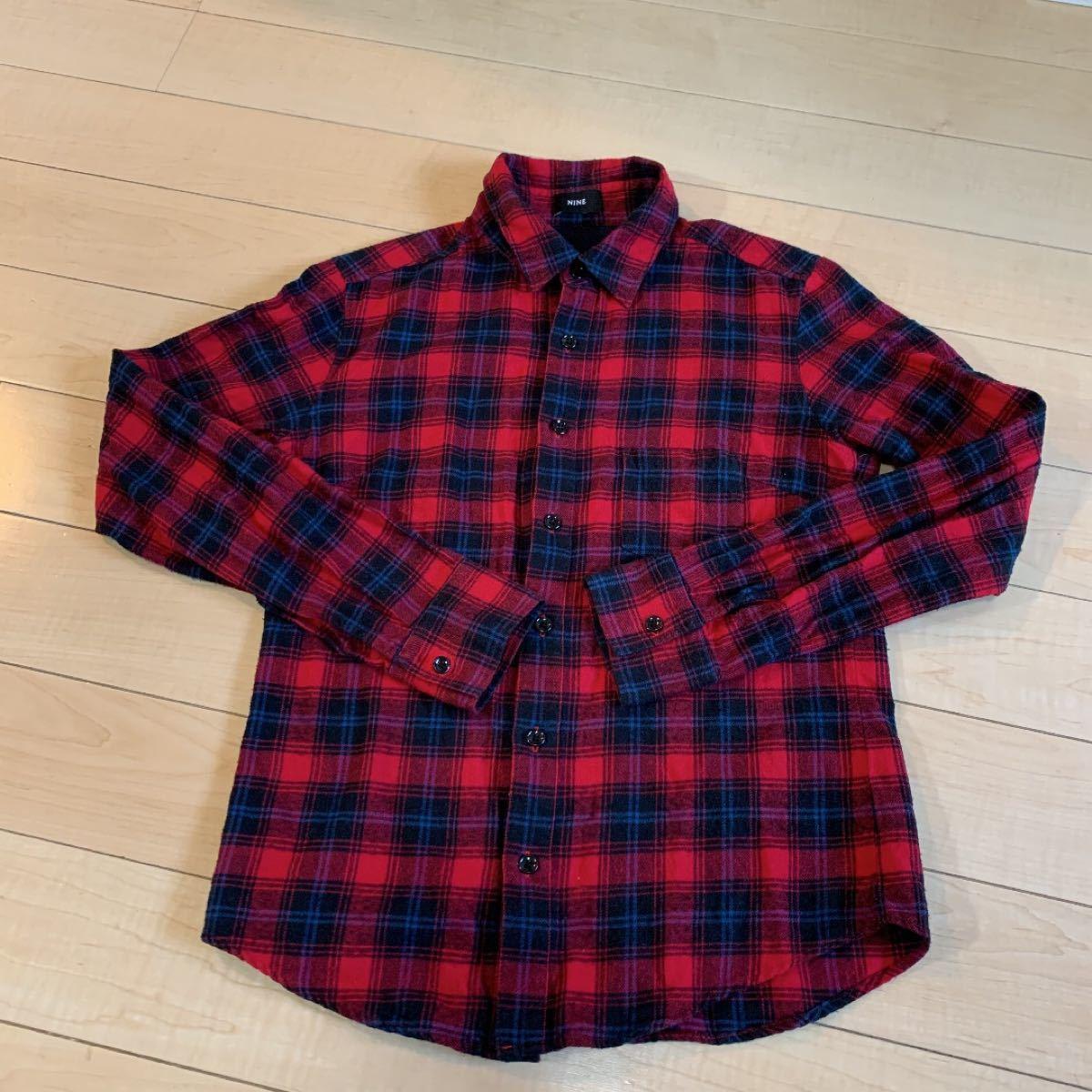 NINE ネルシャツ 長袖シャツ チェック柄 チェックシャツ