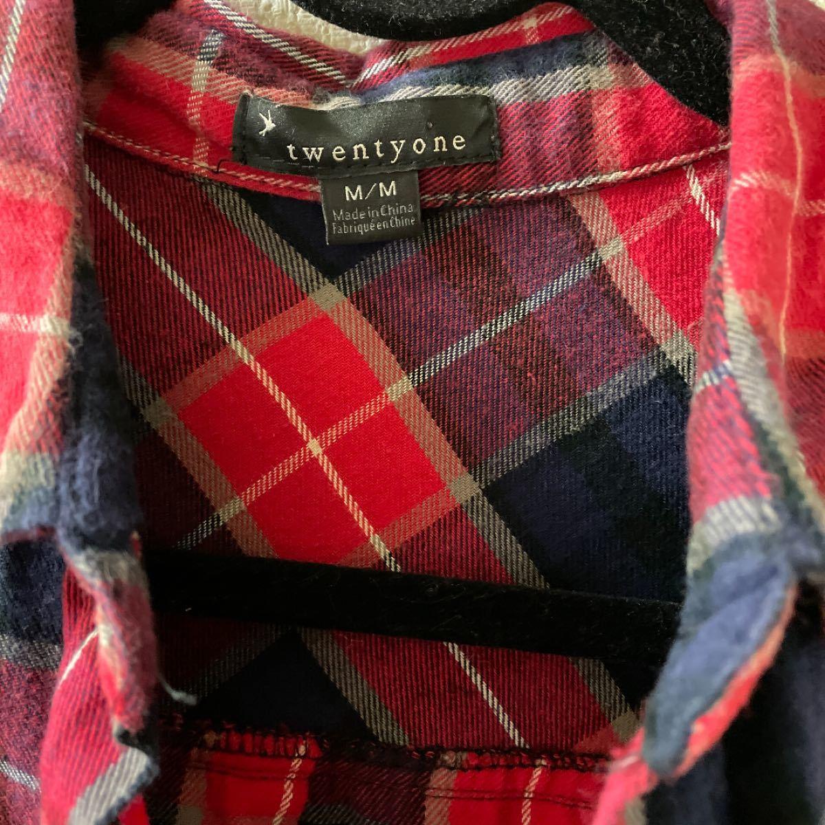 Forever21 チェックシャツ ネルシャツ ユニクロ Mサイズ 長袖シャツ チェック柄