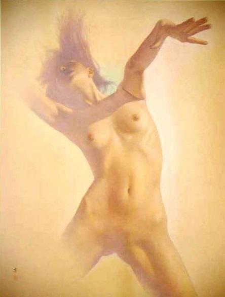 高塚省吾、【その時武須毘】、希少な額装用画集より、美品、新品額装付、送料込み、美人、裸婦_画像1