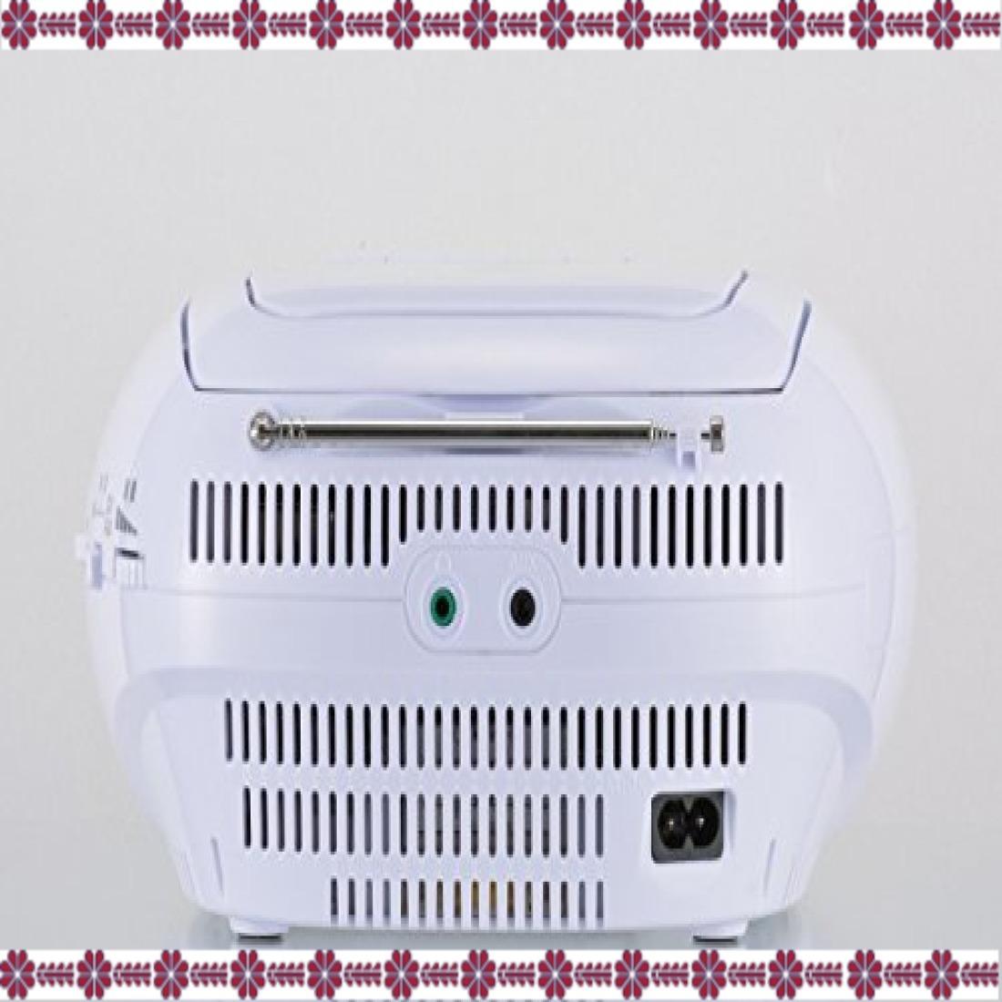 ホワイト 幅231×高さ116×奥行218mm オーム電機 Audio Comm CDラジオ871Z RCR-871Z ホワイト_画像3