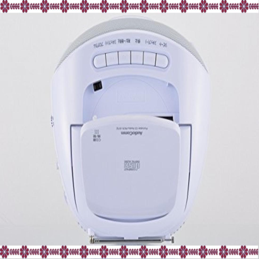 ホワイト 幅231×高さ116×奥行218mm オーム電機 Audio Comm CDラジオ871Z RCR-871Z ホワイト_画像4