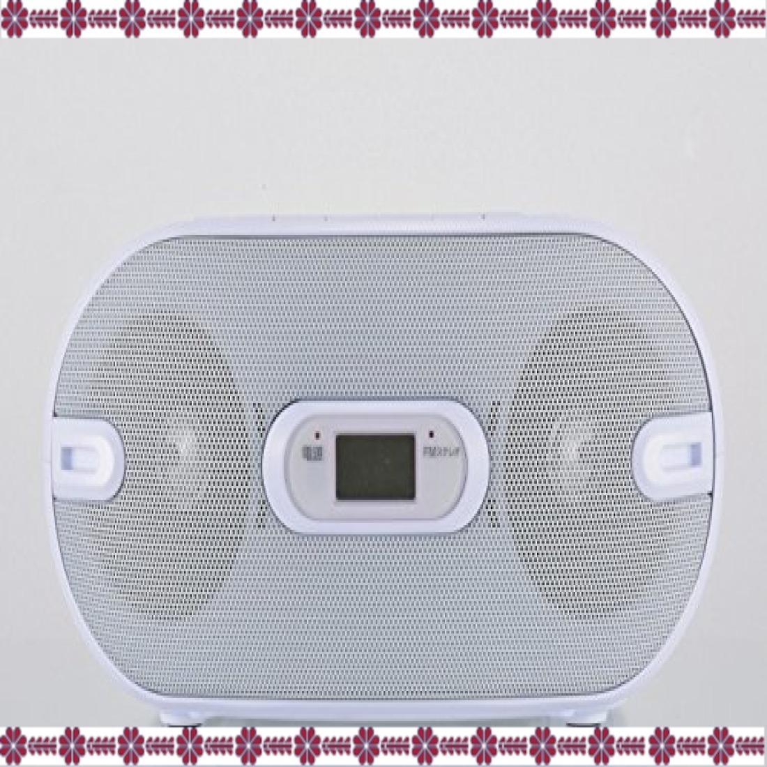 ホワイト 幅231×高さ116×奥行218mm オーム電機 Audio Comm CDラジオ871Z RCR-871Z ホワイト_画像2