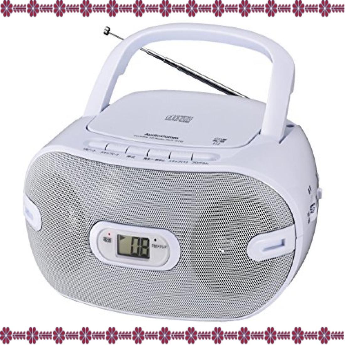 ホワイト 幅231×高さ116×奥行218mm オーム電機 Audio Comm CDラジオ871Z RCR-871Z ホワイト_画像5