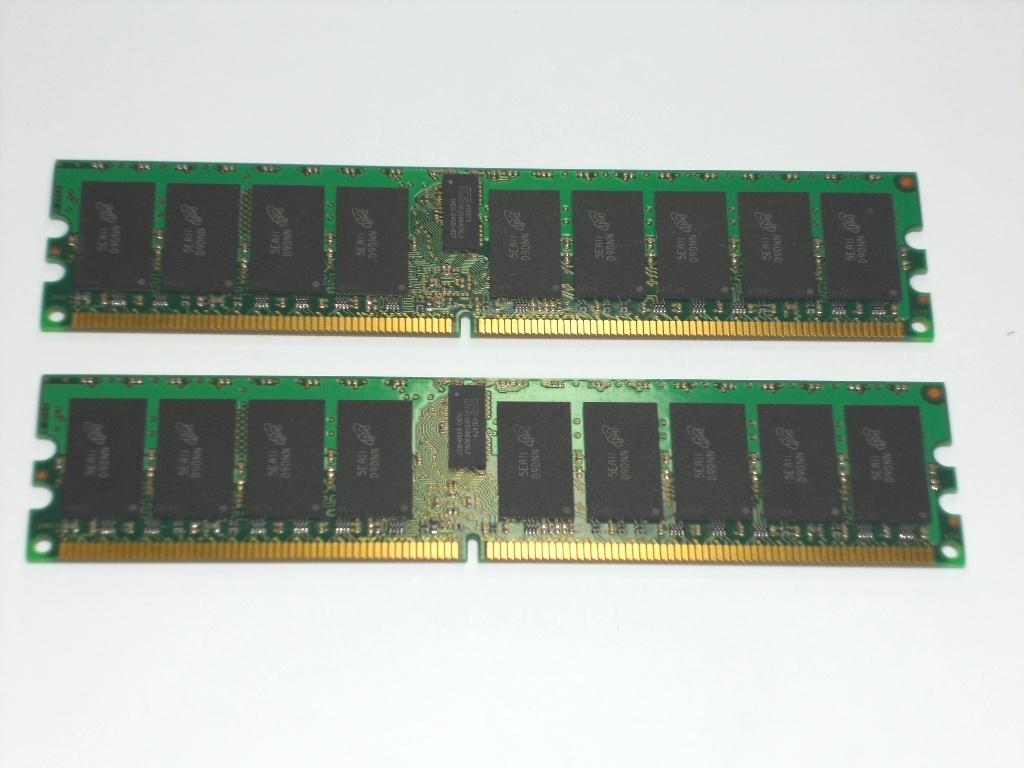 HP サーバー用メモリ― Micron DDR2 PC2-3200R 2GB×2枚 ECC 計4GBセット 中古 動作未確認!_画像5