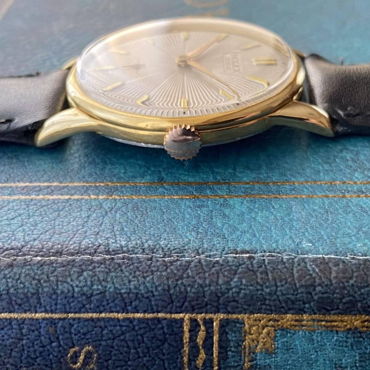 激レア【OH済】ロレックス ■ ROLEX ジュネーブ 14KGP 1950年代 アンティーク 中古 メンズ 手巻き 機械式腕時計 ビンテージ 美品 レア_画像2