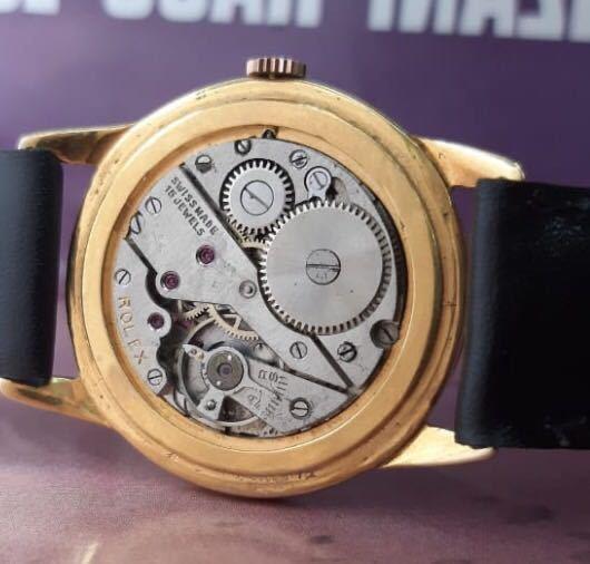激レア【OH済】ロレックス ■ ROLEX ジュネーブ 14KGP 1950年代 アンティーク 中古 メンズ 手巻き 機械式腕時計 ビンテージ 美品 レア_画像8