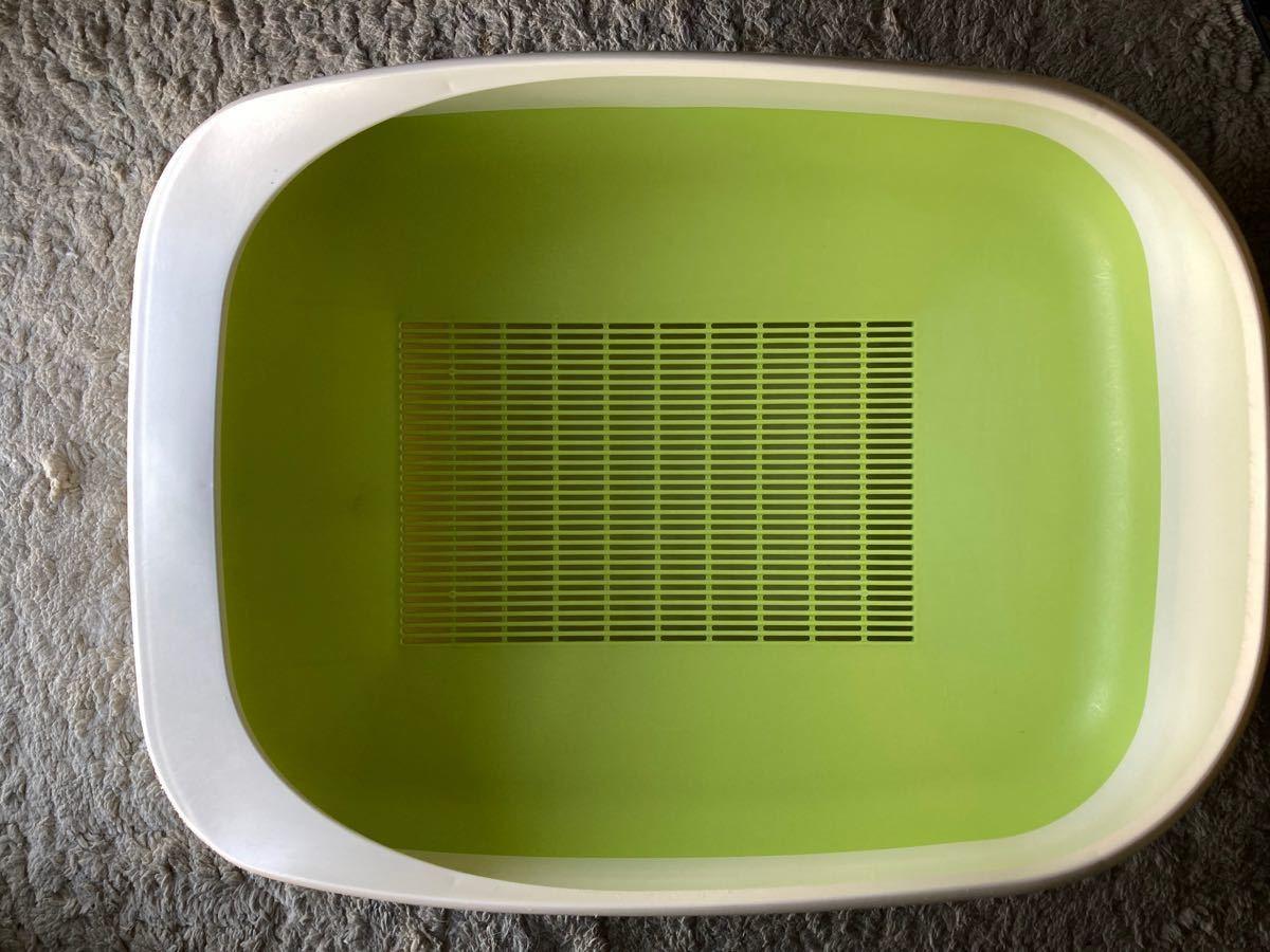 猫 デオトイレ 本体 ナチュラルグリーン
