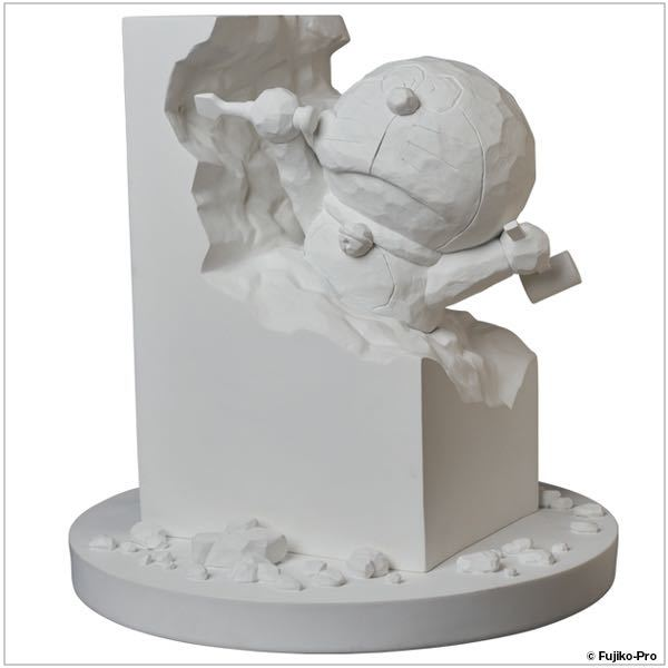 彫刻家ドラえもん White Ver. ドラえもん50周年 記念品_画像1