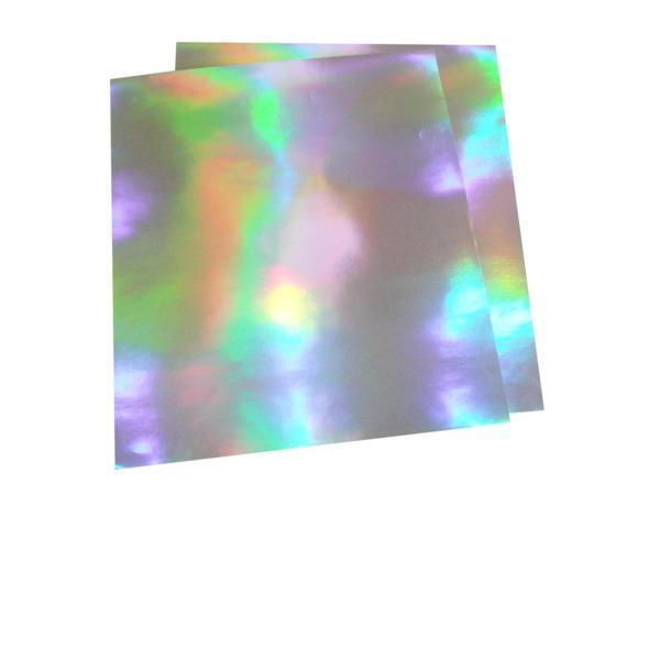 大判ホログラムシート紙 粘着なし お徳用10枚セット レインボー こんなの欲しかった 切って使える 裏面白紙 包装紙 折り紙_画像1