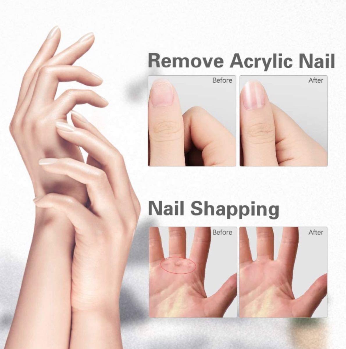 電動ネイルケア 電動爪やすり ネイルドリル 5点セット LEDライト 角質除去 甘皮処理 爪やすり 電動爪磨き