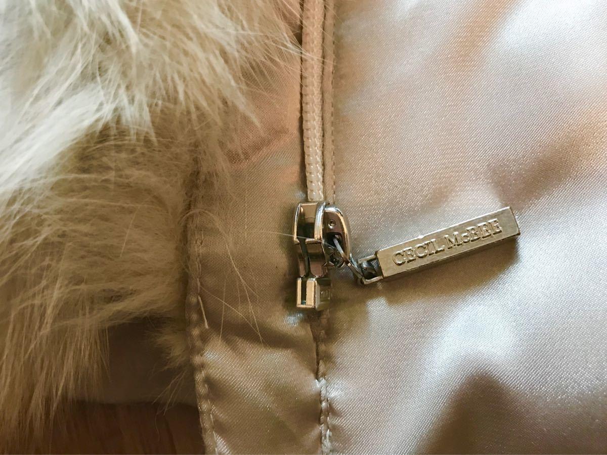 【 CECIL McBEE 】セシルマクビー/リアルファー付き ダウンジャケット ロングダウンコート