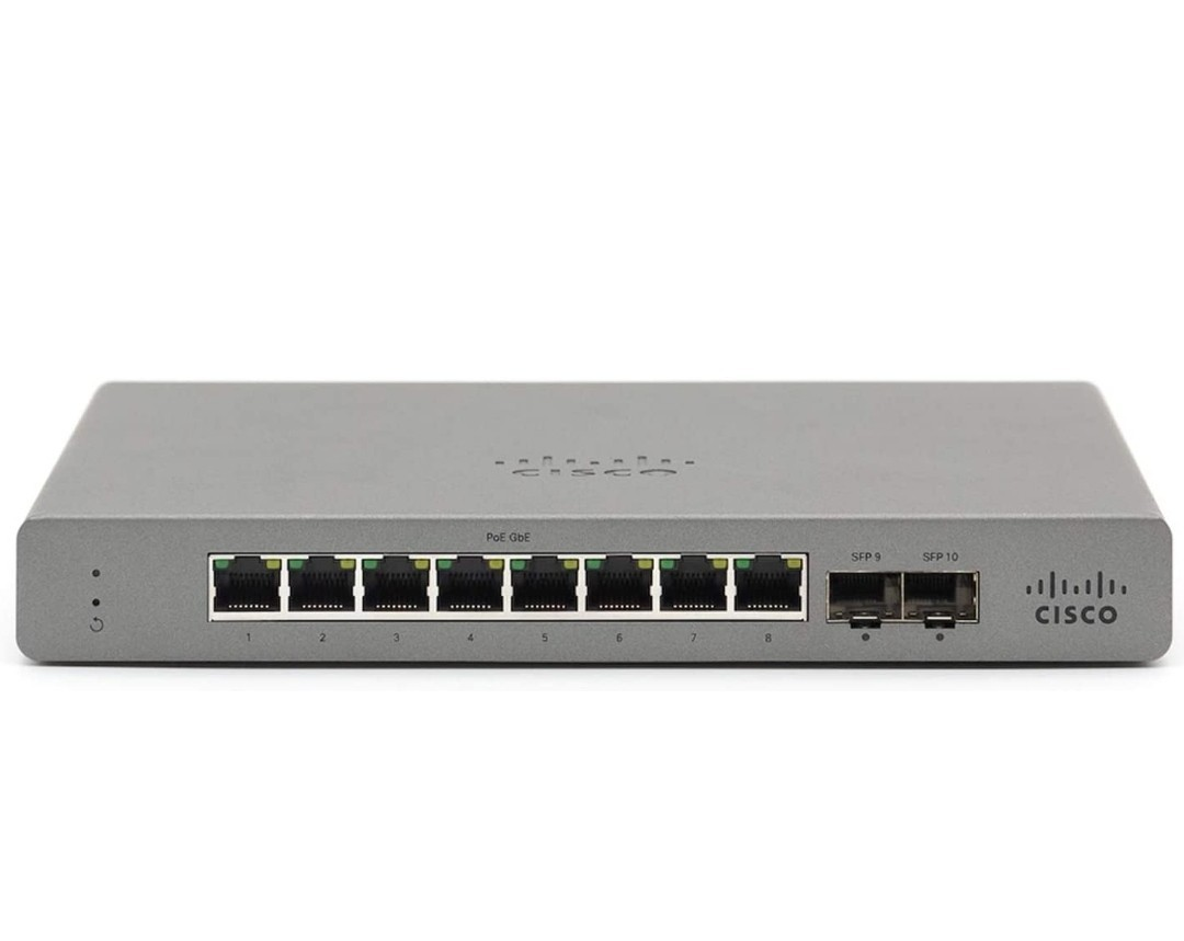 Cisco Meraki Go スイッチングハブ 8ポート PoE給電対応 10/100/1000Mbps