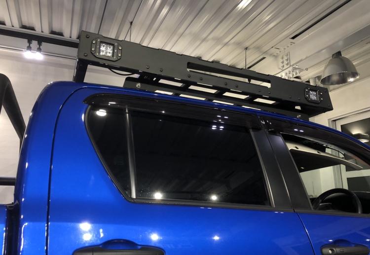 [在庫有即納][当社オリジナル] トヨタ ハイラックス 125 専用 ルーフラック ルーフキャリア LED SUV ランクル ハイラックス プラド サーフ_画像3