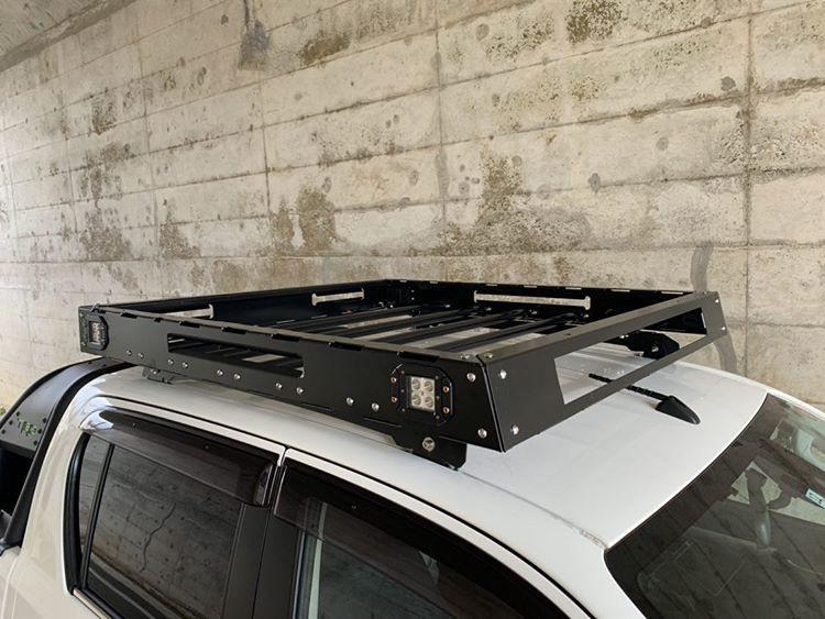 [在庫有即納][当社オリジナル] トヨタ ハイラックス 125 専用 ルーフラック ルーフキャリア LED SUV ランクル ハイラックス プラド サーフ_画像9